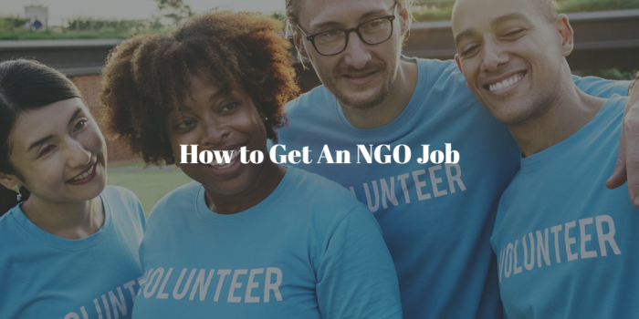 How To Get An NGO Job in Ghana