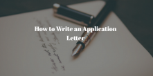 How to Write an Application Letter for Job Vacancy